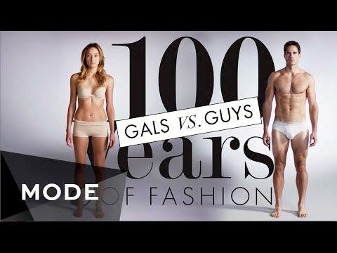 100 Years of Fashion Gals vs Guys