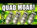 MW3 - QUAD MOAB Gameplay! World's First! - AAA Ep.4 w/ Raimpstage! (Modern Warfare 3)