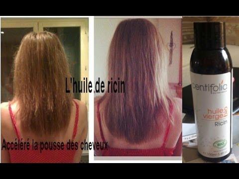 comment appliquer huile ricin cheveux
