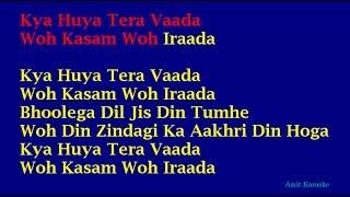 Video Kya Huya Tera Waada - Mohammed Rafi Hindi Full Karaoke with Lyrics MP3, 3GP, MP4, WEBM, AVI, FLV Juni 2018