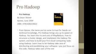 Big Data Training Quick References For Hadoop