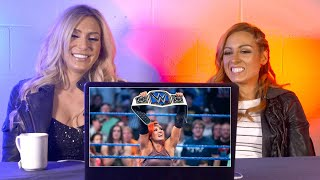 Video Becky Lynch & Charlotte rewatch Becky's SmackDown Women's Title win: WWE Playback MP3, 3GP, MP4, WEBM, AVI, FLV Juli 2018