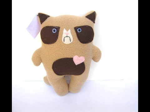How to Make your own Grumpy Cat Plush – DIY stuffed animal