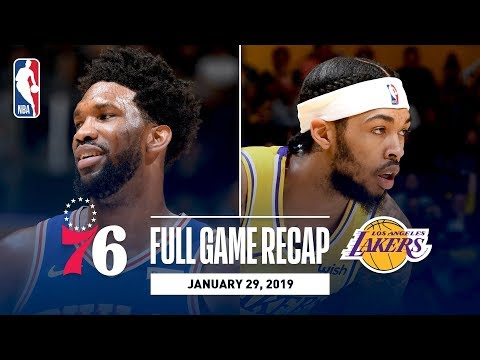 Full Game Recap: 76ers vs Lakers | Embiid's Double-Double Leads Sixers
