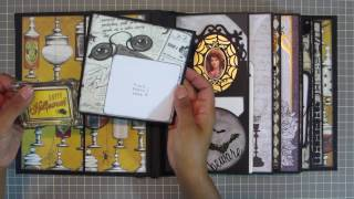 Happy Halloween everyone!!!To make this mini album in time for Halloween, I used 2 tutorials.Main Tutorial: Kathy King's 'My Design Mini': http://shop.paperphenomenon.com/My-Design-Mini-Album-TUT086.htmOther Tutorial: Kathy King's 'Life in Retrospect': http://shop.paperphenomenon.com/Life-in-Retrospect-Tutorial-TUT0100.htmYou can watch a similar video of these combined tutorials: Halloween Papers & Embellishments Used:1) Michaels, Recollections - Ravenshead Manor2) BoBunny - Wonderfully Wicked3) Authentique: Mysterious4) Reminisce - Eerie Night5) Tim Holtz Frightful Ephemera Pack