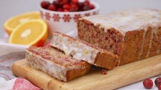 Cranberry Orange Cake with Lemon Glaze by Gemma's Bigger Bolder Baking