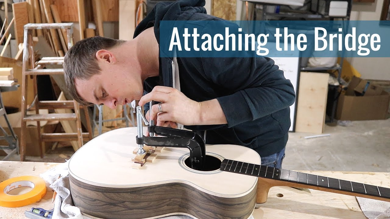 Attaching the Bridge (Ep 22 – Acoustic Guitar Build)
