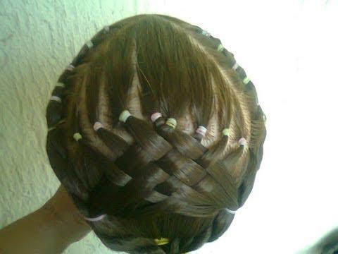 peinados de ligas - Hola a todos aqui les muestro este peinado con ligas y tapetillo en la parte de atras, espero les guste, disculpen la luz.