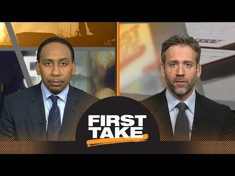 Stephen A. and Max react to Rockets defeating Warriors in Game 2   First Take   ESPN