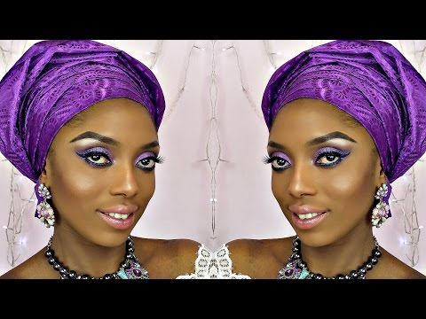 How To Tie Gele And Bridal Makeup Tutorial