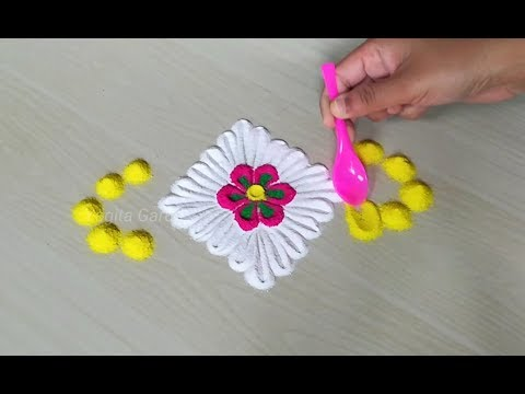 Very easy and simple rangoli design for rakshabandhan | Everyday rangoli