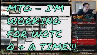 If you haven't found out yet, I have decided to accept a position from Wizards of the Coast to be a member of their Play Design team. I'm super excited to begin this new chapter of my life and I wouldn't be here if it wasn't for the support from all of you. Thank you! -- Watch live at https://www.twitch.tv/haumph