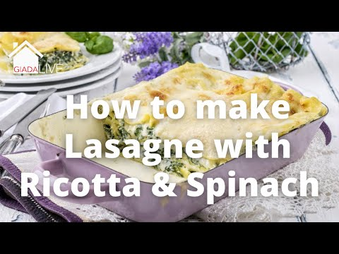 Giada Live - How to make a vegetarian Lasagne with Ricotta and Spinach