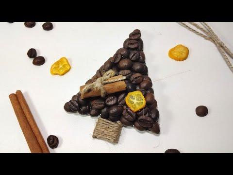 Кофейная ёлка своими руками 68