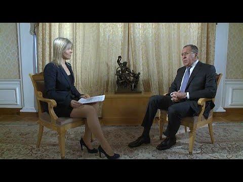 Sergej Lawrow im euronews-Gespräch: Scharfe Kritik  ...