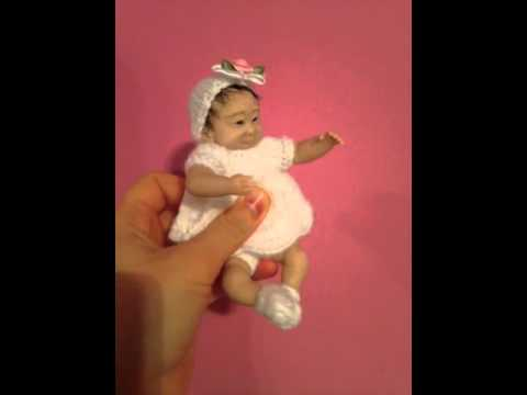 Akiko, Japanese OOAK baby. (видео)