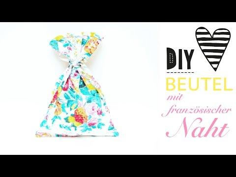 DIY MODE Wäscheklammer Beutel mit französischer Naht nähen