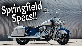 2. 2017 Indian Springfield Specs and Walkaround!!