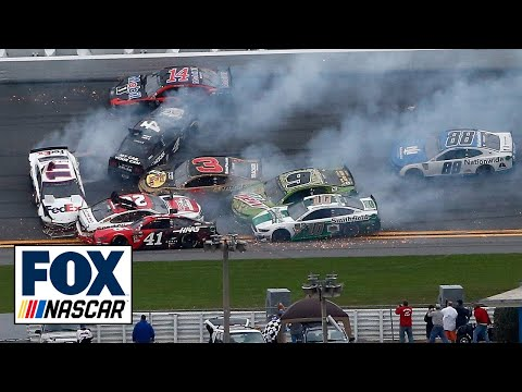 Jimmie Johnson triggers massive wreck, goes on to win The Clash | NASCAR RACE HUB