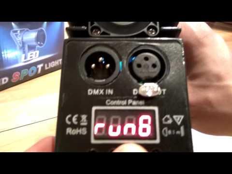 LED Pinspot Stage Lighting Effect (LED Spot Light) / manual inside