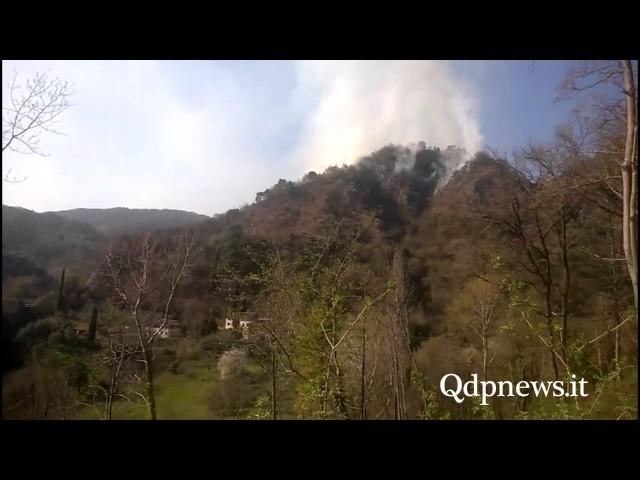 Incendio sul monte Altare, Vigili del Fuoco a Vittorio Veneto
