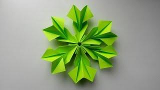 Простой цветок из бумаги Оригами украшение