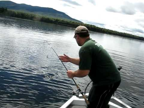 Bass Fishing Maine Sept 2011 Great Moose Pond