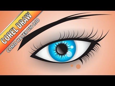 Tutorial de Corel Draw - Como hacer un ojo - herramientas de recorte