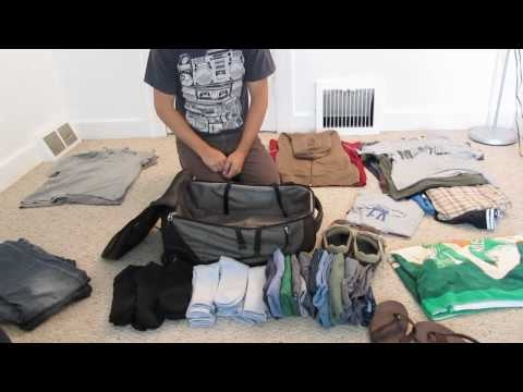 如何把一個月份的衣服塞到一個小背包裡