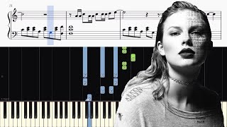 Taylor Swift - New Year's Day - Piano Tutorial + SHEETS