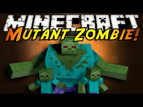 Minecraft Mod Showcase : MUTANT ZOMBIES!