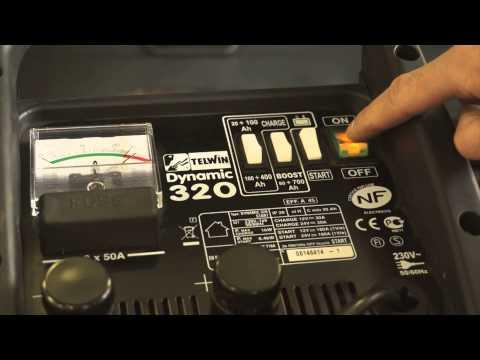 Štartovací vozík a nabíjačka akumulátorov, 12V, 24V, 1-6.4kW 829381