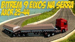 AXOR 25-44 NO BITREM 9 EIXOS - SUBINDO A SERRA DO RIO DO RASTR...