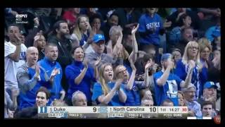 2017 ACC Tournament Semifinal Game 1: North Carolina vs Duke 3/10/17