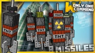 Minecraft: DEADLY MISSILES With Only two Command Blocks (1.11 Command!)