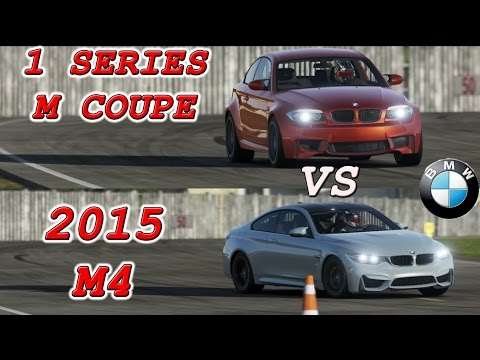 BMW M4 vs BMW 1 Series M coupe on Top Gear Test Track (видео)