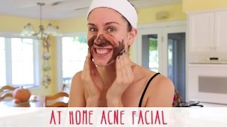 At Home Acne Facial!! How To Give Yourself A Facial At Home!
