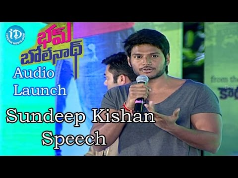 Video Sundeep Kishan Speech @Bham Bolenath Audio Launch |Navdeep | Naveen Chandra download in MP3, 3GP, MP4, WEBM, AVI, FLV January 2017