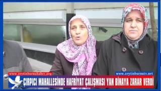 Çırpıcı Mahallesinde  Hafriyat Yan Binadakileri Azdaha Canından Ediyordu