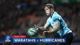Waratahs v Hurricanes Rd.1 2019 Super rugby video highlights