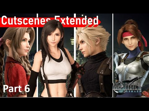 Final Fantasy 7 Remake ALL CUTSCENES FULL MOVIE (6/7)
