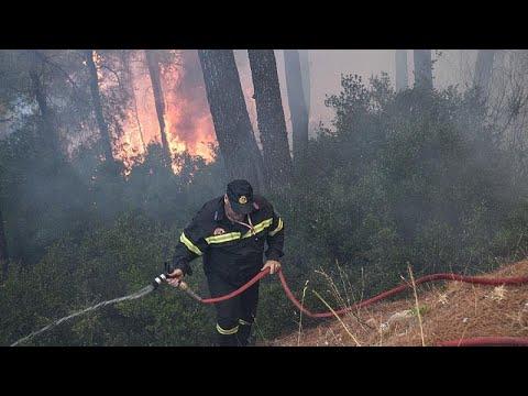 Πυρκαγιές σε Λαύριο και Αταλάντη