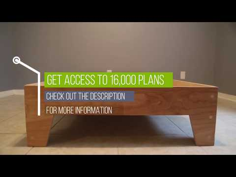 Woodworking ideas - DIY Bed Frame: How To Build a Platform Bed Frame