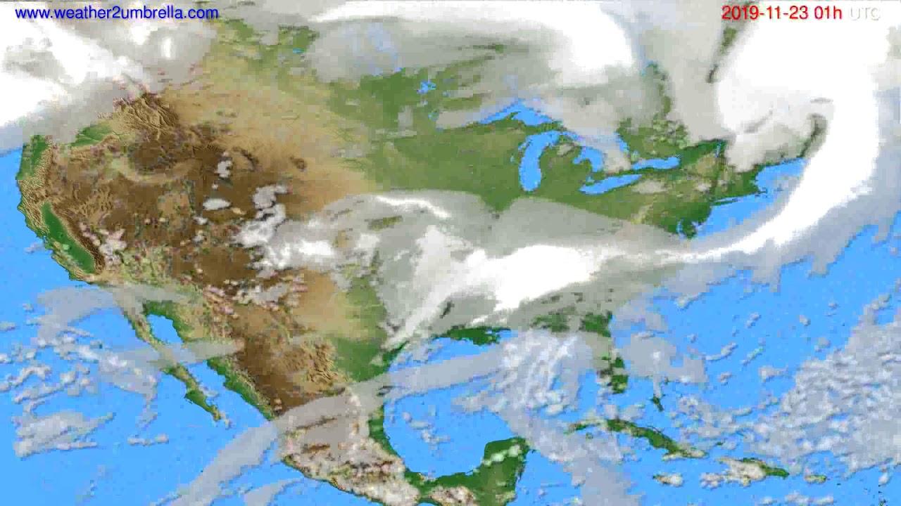 Cloud forecast USA & Canada // modelrun: 12h UTC 2019-11-21