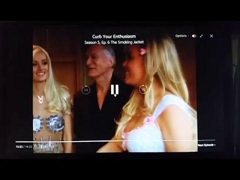 Curb Your Enthusiasm with Hugh Hefner & Michael Godinez at Playboy Mansion