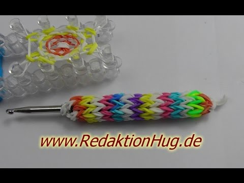 Loom Bands mit Rainbow Loom Stiftehalter Anleitung Deutsch