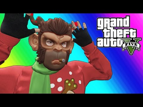 GTA 5 Online Funny Moments - EPIC Snowball Fights! (видео)