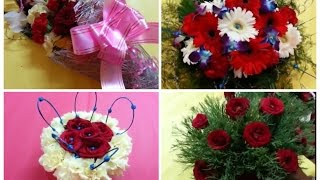 4 ● Simple and Easy Beautiful Flower Bouquets/ How to Make Flower Bouquets/ Flower Bouquets.