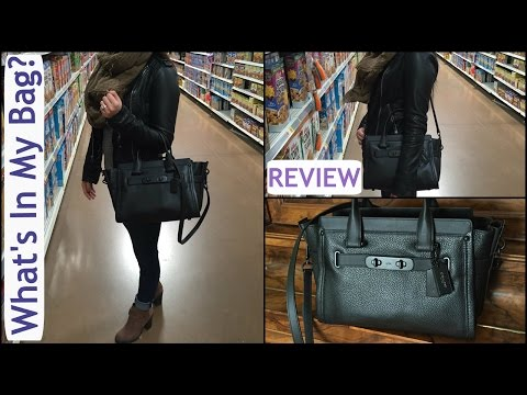 NEW COACH SWAGGER CARRY ALL REVIEW/WHAT'S IN MY BAG | ITSJUSTKELLI