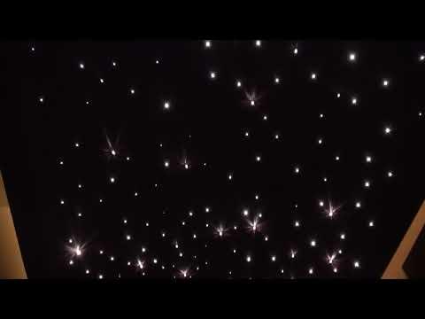 Zestaw Kryształowy Pył, nowoczesne oświetlenie sufitowe, podświetlenie LED sufitu